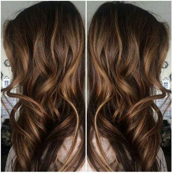 Caramel Highlights In Dark Brown Hair Hair Pinterest Dark
