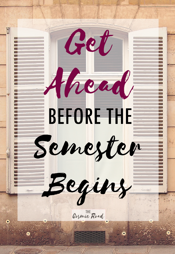 Get ahead in your university classes before semester