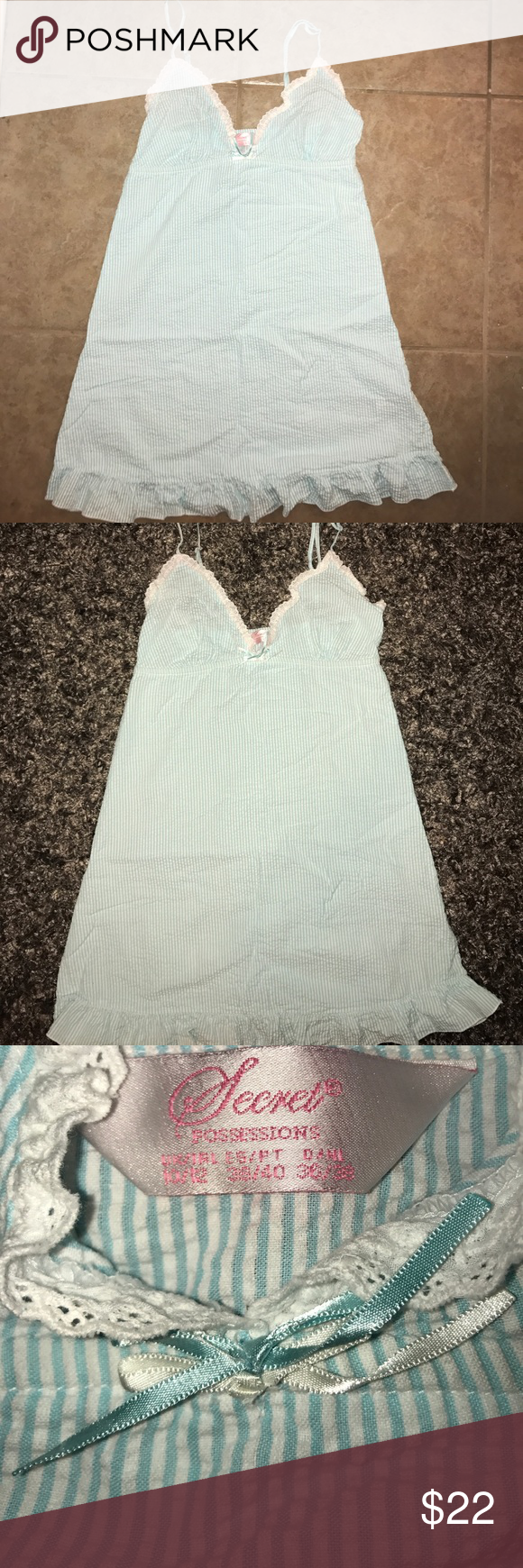 SECRET POSSESSION NIGHT DRESS Cute night dress fits a med bra size 3636 EUC including adjustable straps fun and flirty.IT HAS RUFFLES ...HE LOVES RUFFLES 😍 secret possesions Skirts