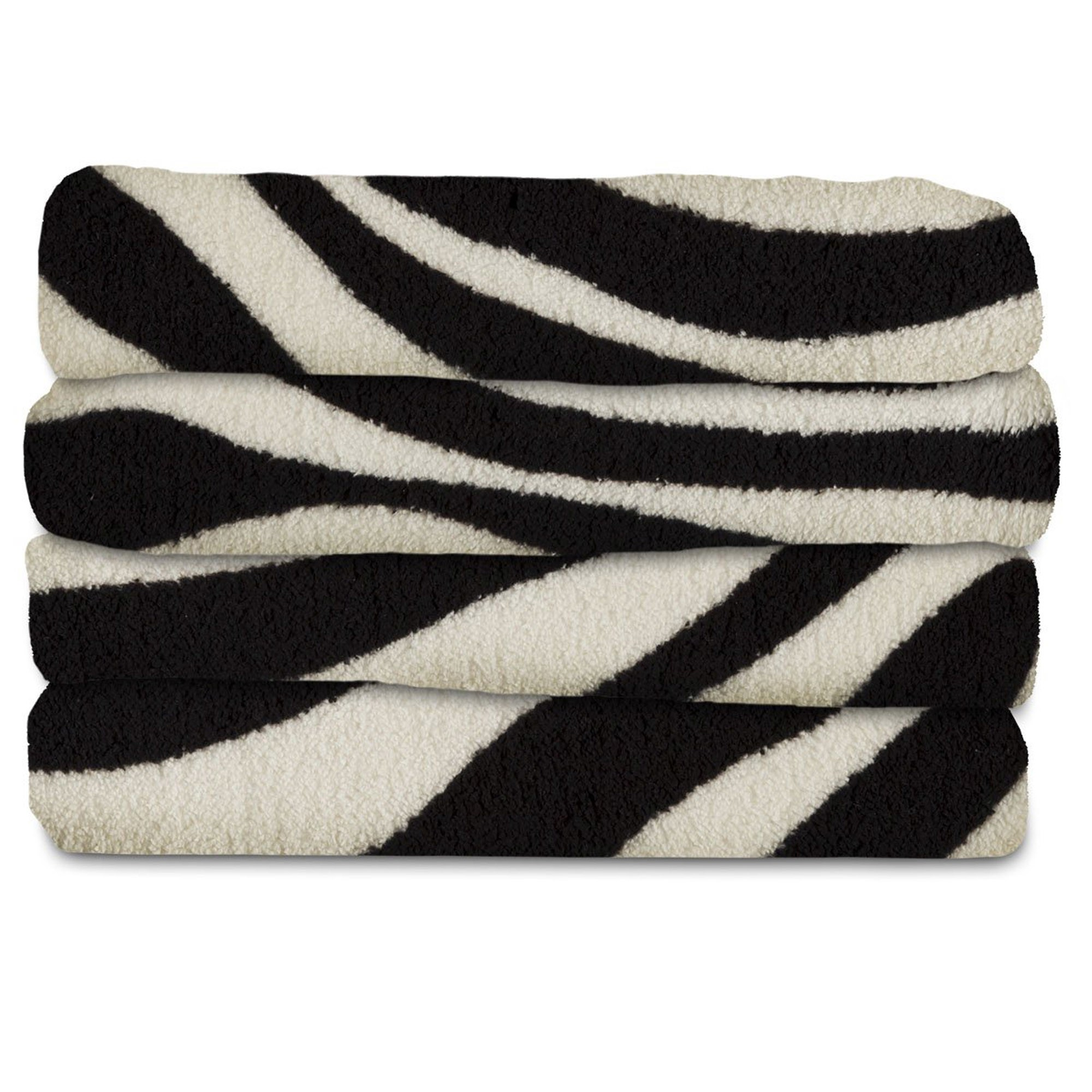 Electric Throw Blanket Walmart Fascinating Fleece Heated Throw Zebra Black  Sunbeam  Products