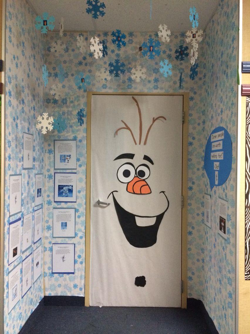 winter door decorating contest. olaf classroom door frozen decorating contest winter decoration w