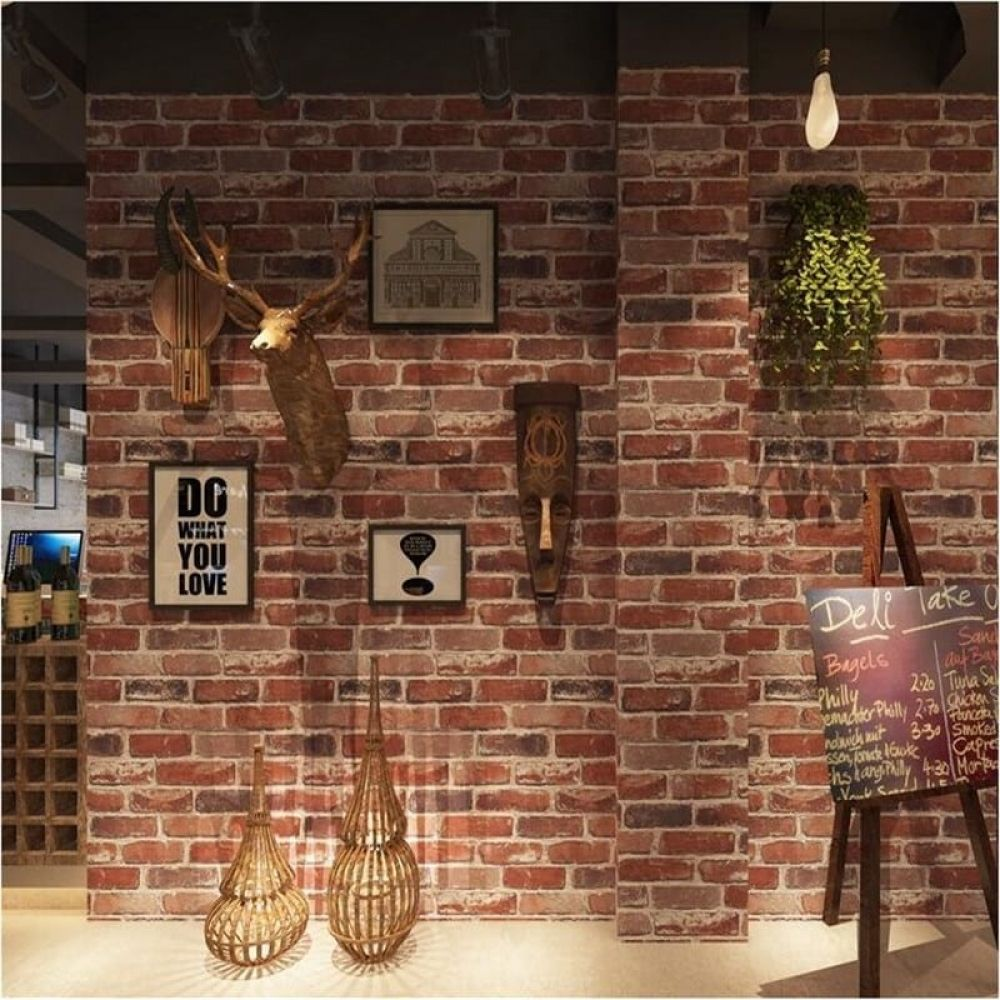 Rustic Vintage Faux Brick Wallpapers With 3d Stone Effect