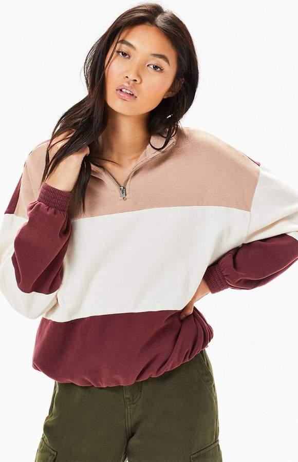 7e61e9a83d6 LA Hearts Colorblocked Half Zip Sweatshirt