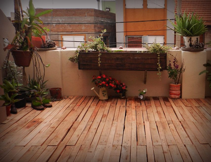 Pallet deck pallet cantero decoraci n jard n piso for Muebles cantero