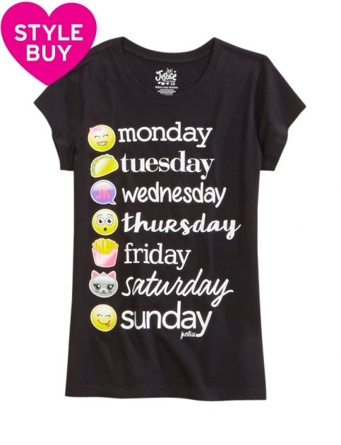shop emoji weekday graphic