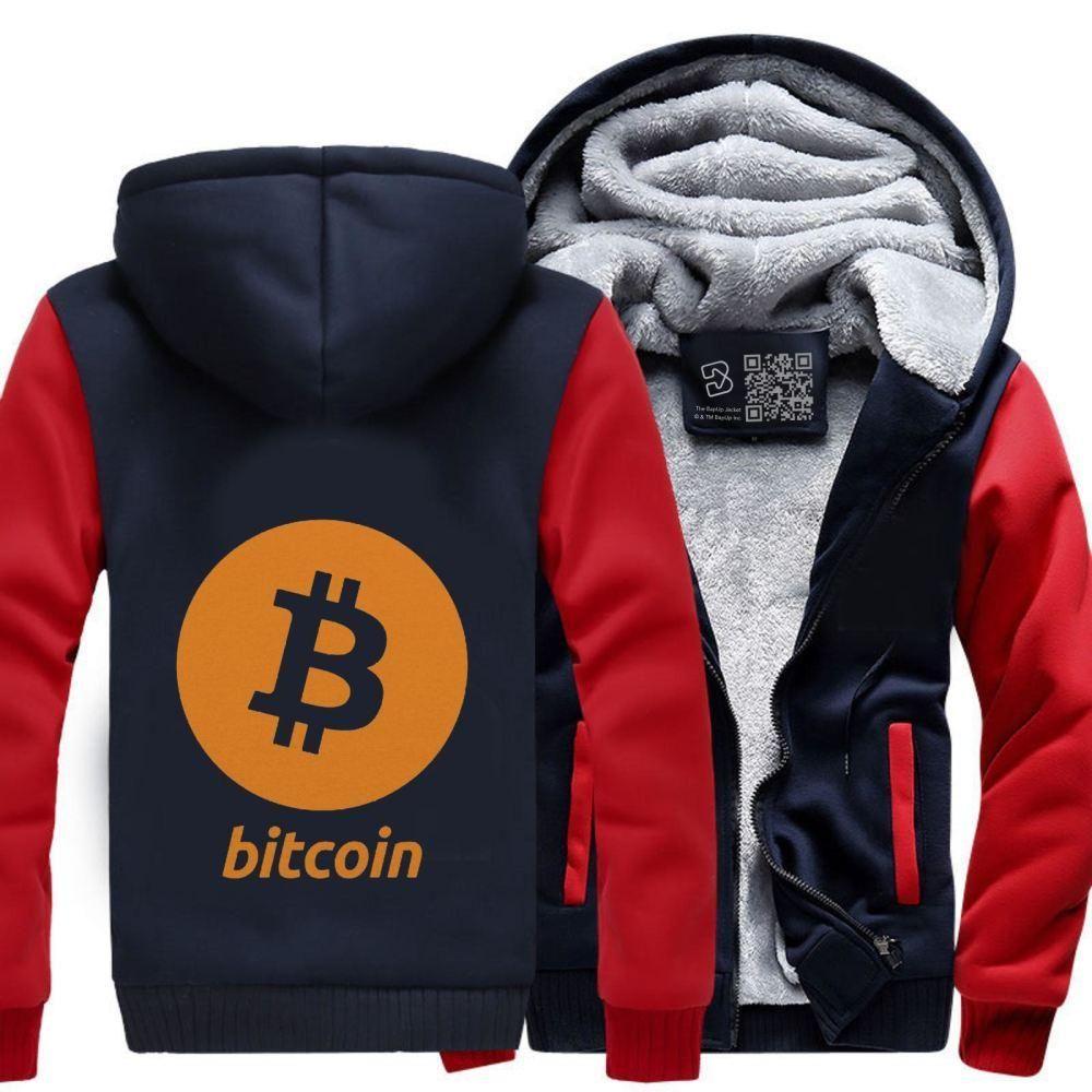 Bitcoin logo cryptocurrency fleece jacket bitcoin logo and products