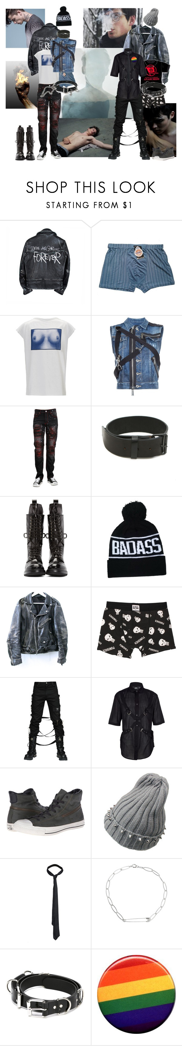 """I Remember a Rooftop"" by verysmallgoddess ❤ liked on Polyvore featuring Comme des Garçons, Dsquared2, 99%IS, Rick Owens, Marvel Comics, Kokon To Zai, John Varvatos, AllSaints, Isabel Marant and Filles à papa"