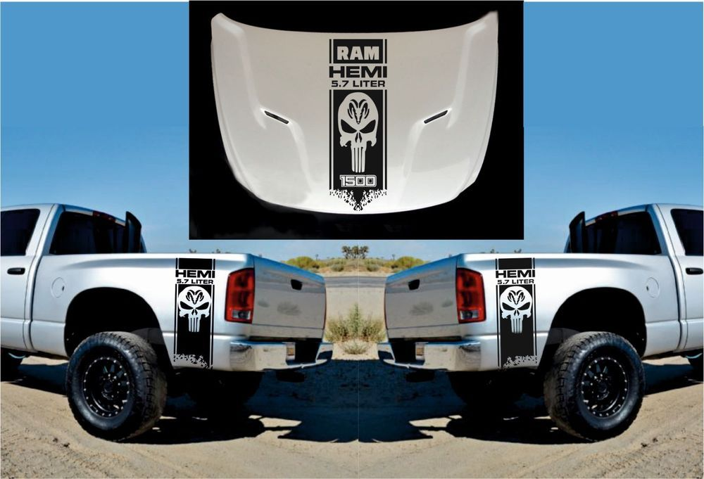 Dodge Ram Hemi  3x Hood Fender Decals Graphic Vinyl Body Sticke Ebay Motors Parts Accessories Car Truck Parts Ebay