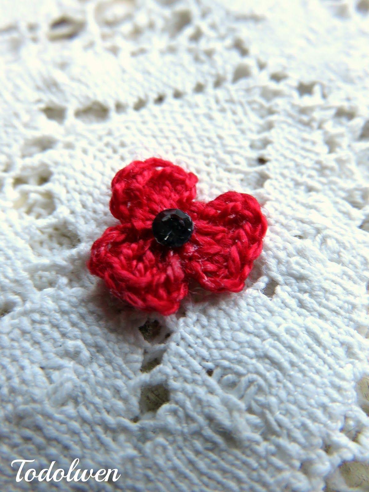 Todolwen new my little poppy hook it pinterest free todolwen new my little poppy crochet poppyflower crochetdiy crochetfree bankloansurffo Image collections