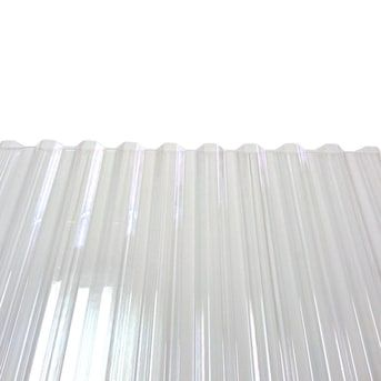 Tuftex Polycarb 2 17 Ft X 12 Ft Corrugated Clear Polycarbonate Plastic Roof Panel Lowes Com In 2020 Corrugated Plastic Roofing Roof Panels Plastic Roofing