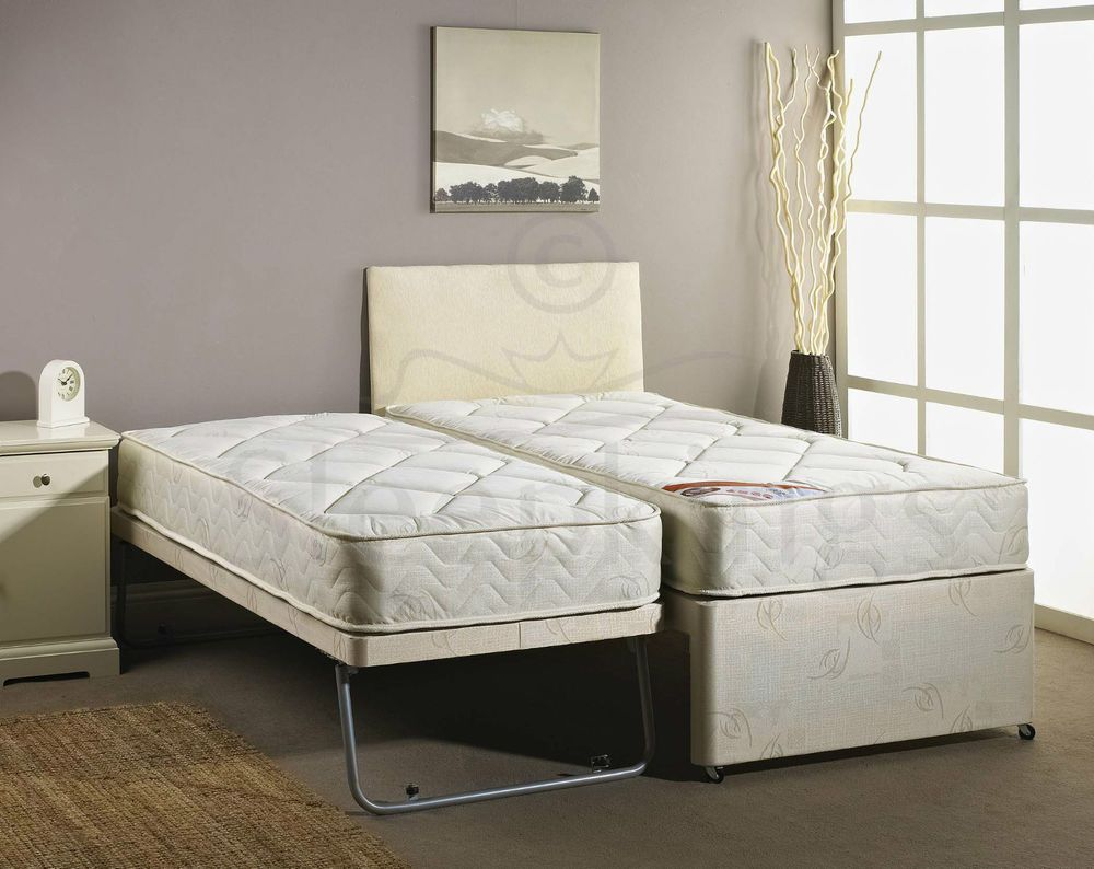 pretty nice a42f2 7258d Details about 3FT SINGLE GUEST BED 3 IN 1 WITH MATTRESS ...