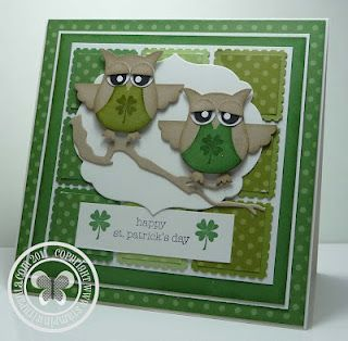 These two punched Irish owls are just too cute!!