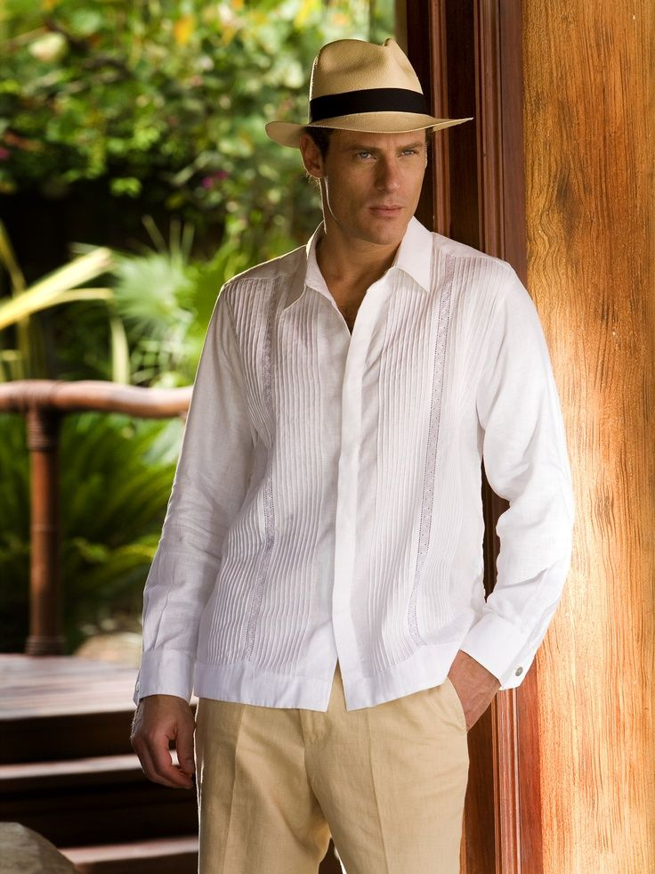 Guayabera Camasha Groomsmen Beach Wedding Attire