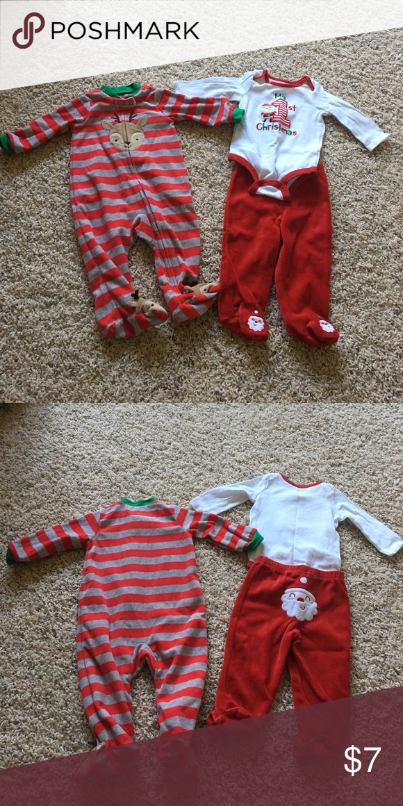 2f1bf6488 First Christmas Bundle Striped sleeper-6m Just One You by Carter s ...