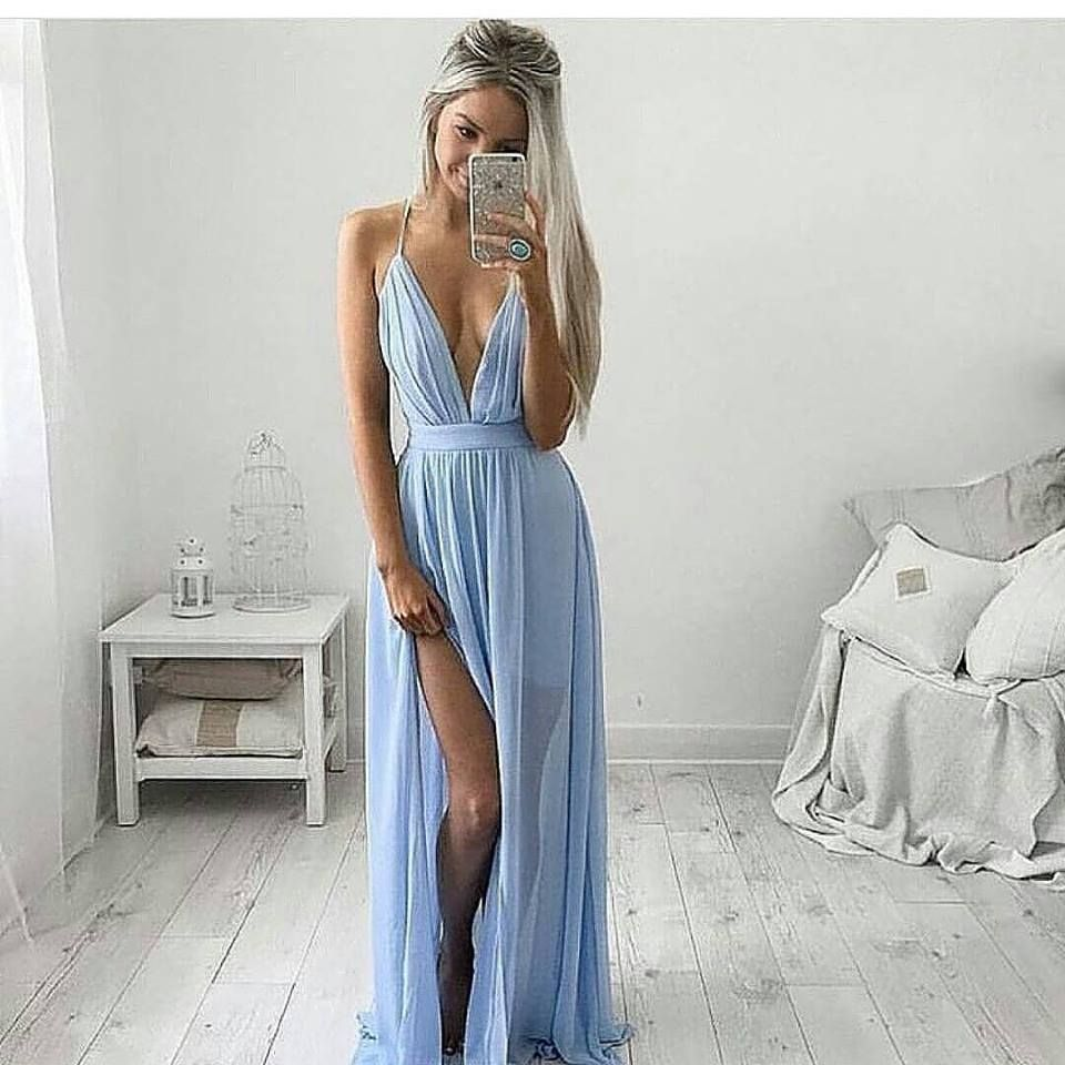 Blue pastel maxi societyofchic roupas clothing pinterest