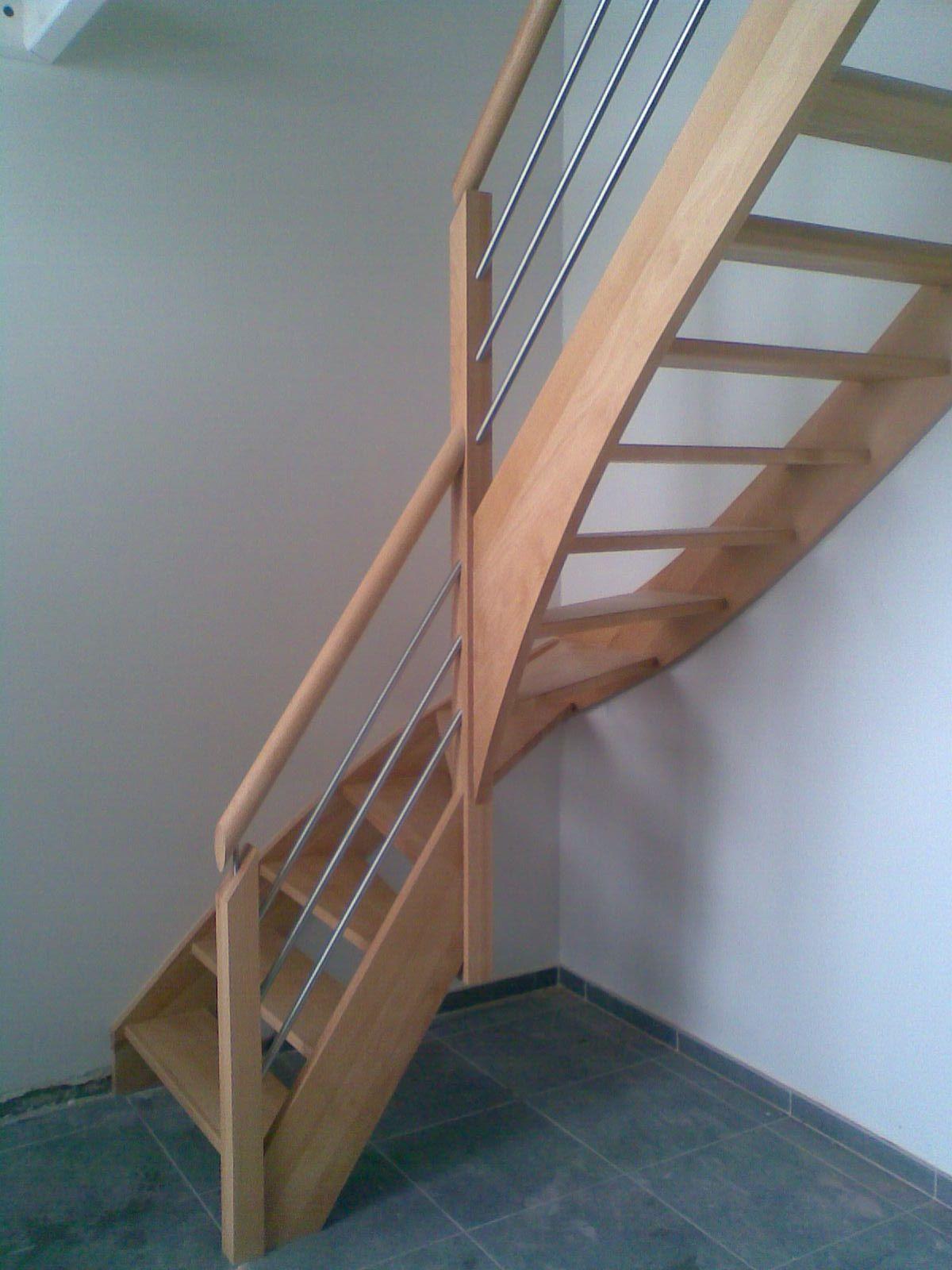 Escalier Hetre Main Courante Ronde Avec Images Amenagement