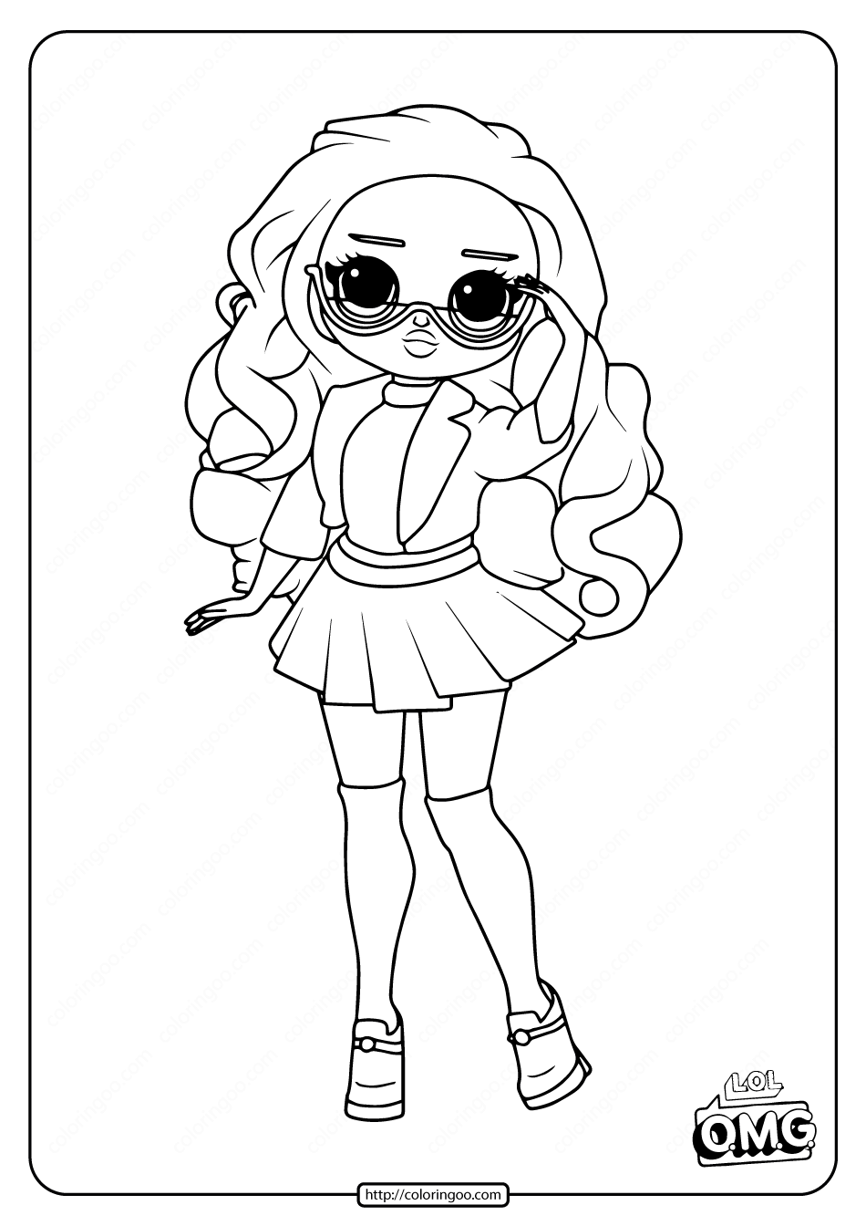 Lol Surprise Omg Class Prez Doll Coloring Page Cool Coloring Pages Tangled Coloring Pages Cute Coloring Pages
