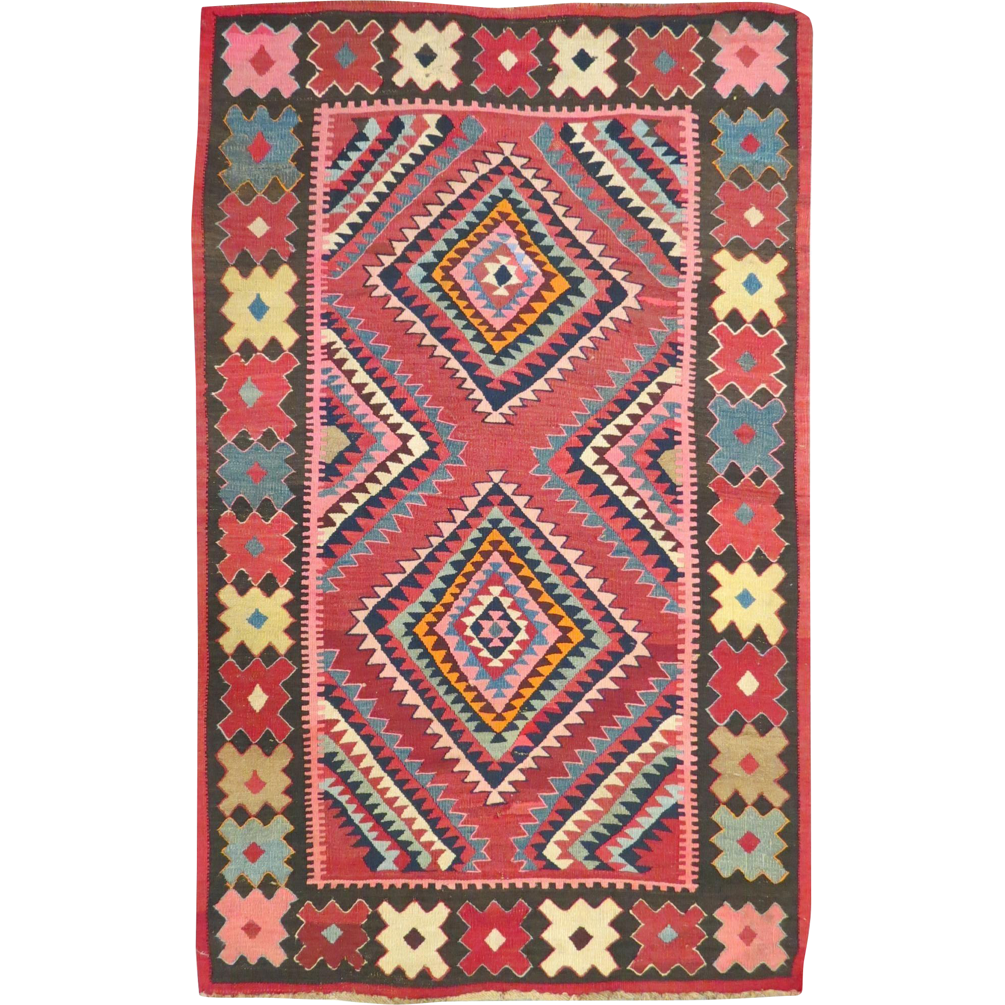This Persian Made Antique Shahsevan Kilim Was Made On Or
