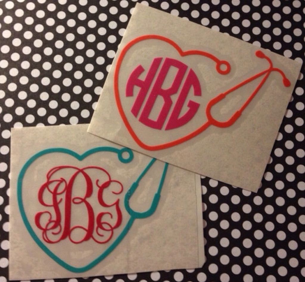 Nurse Stethoscope Car Decal Car Decals Vinyl Nurse Stickers Vinyl Decals Nurse Car Decal [ 947 x 1024 Pixel ]