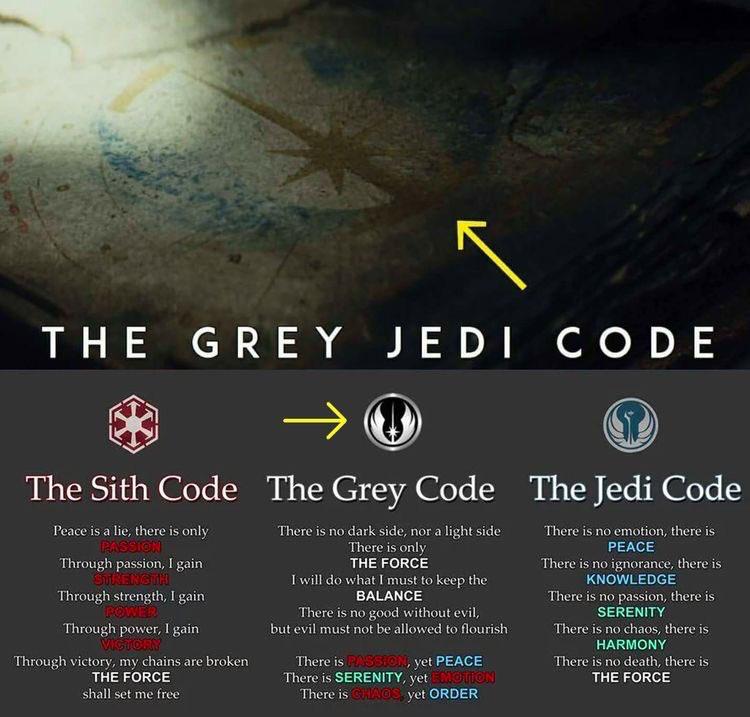 The Grey Jedi Symbol In The New Star Wars Movie Star Wars