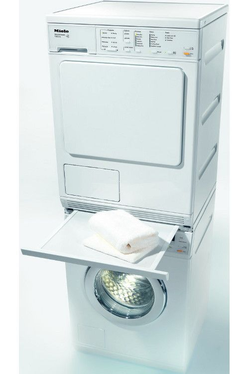 Miele Stacking Kit With Pull Out Shelf Great Idea Ventless