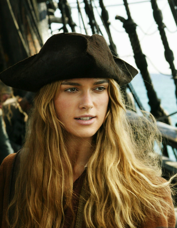 The keira of caribbean pirates knightley