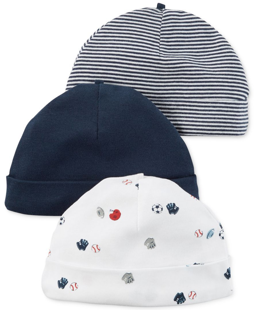 Baby trend all star high chair - Carter S Baby Boys 3 Pack Little All Star Beanie Caps