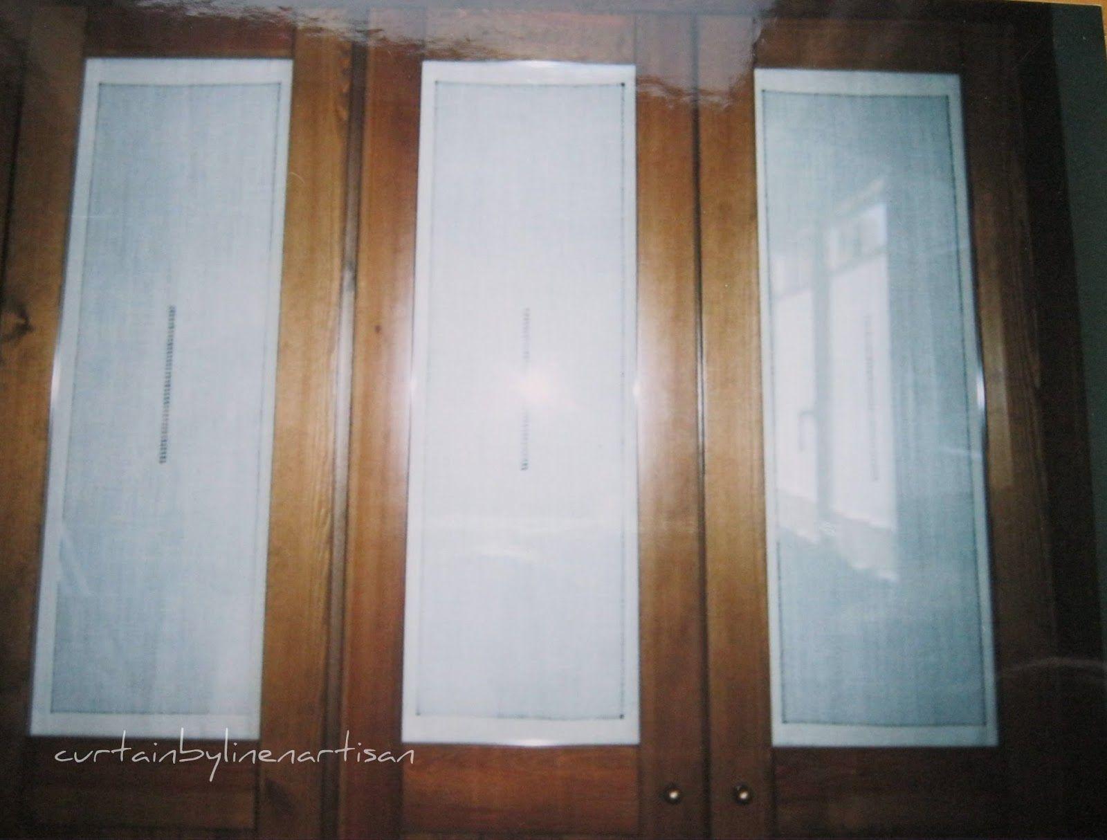 Resultado de imagen de puerta armario visillo deco for Cortinas para banos rusticos