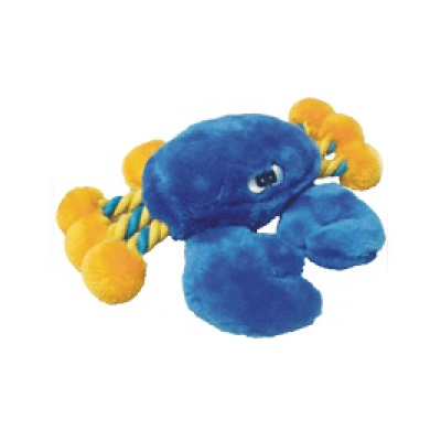Crazy Eyes Blue Crab Plush Rope Dog Toy Products Pet