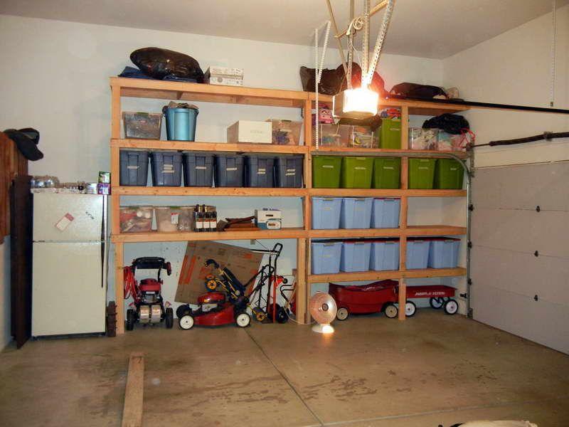 DIY Garage Shelves With Lights Design. Wow, I\'m kinda jealous of ...