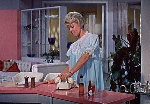 Doris Day In The Movie Pillow Talk Check Out The Bed Coat Mmmmm