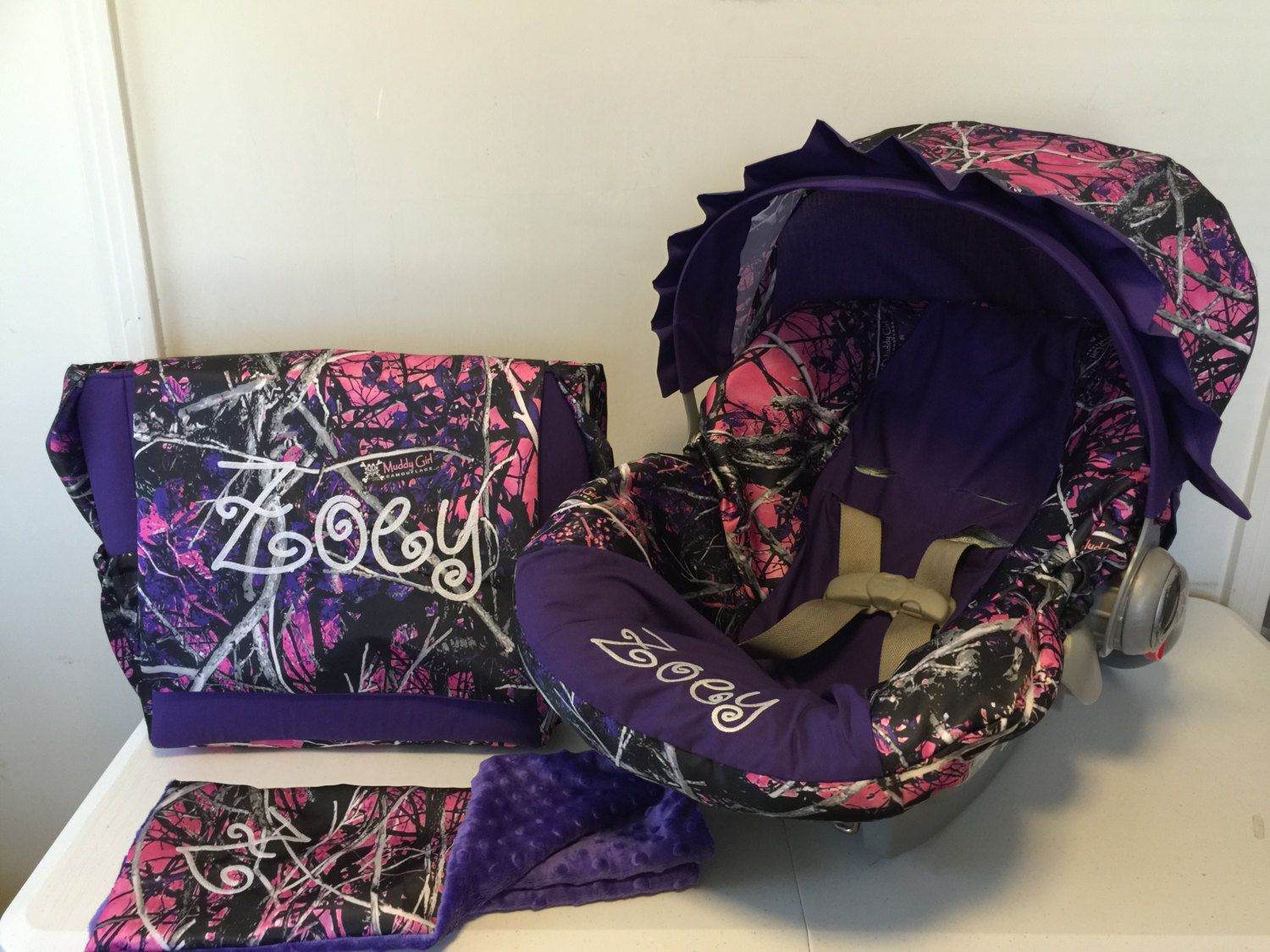 5 Piece Set Moonshine Muddy Girl Camo Fabric Amp Purple