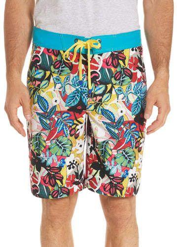 c995693015 Robert Graham Barbarito Floral-Print Swim Trunks   Products   Mens ...