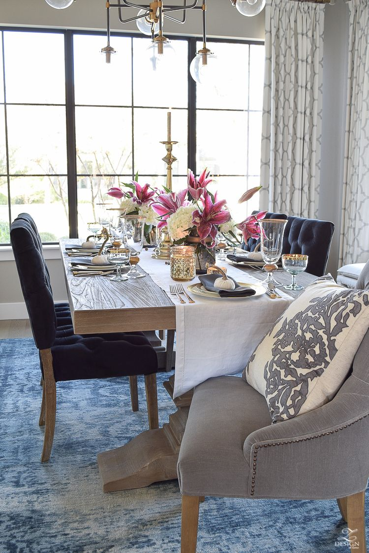 A Rustic Elegant Thanksgiving Zdesign At Home Eclectic Li