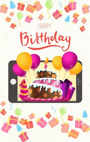 A Trendy Style Of Greeting Cards For Mobile With Images Happy