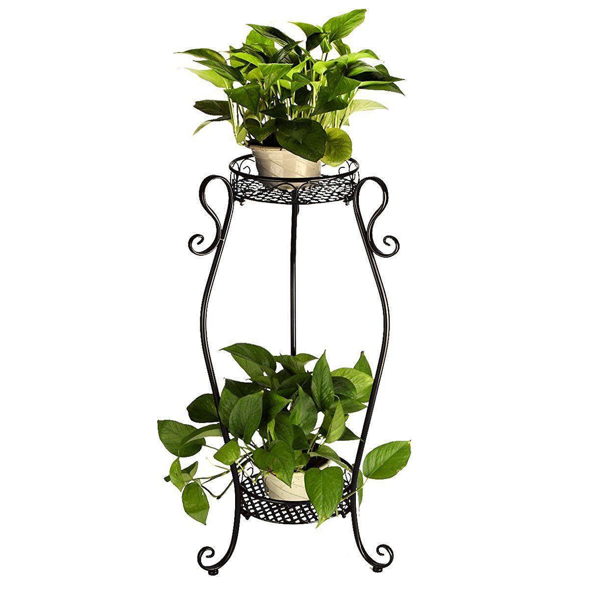tag re colonne pots de fleurs plantes jardini re en m tal. Black Bedroom Furniture Sets. Home Design Ideas