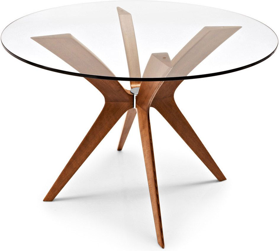 Round glass table top view calligaris tokyocsrd  g  modern dining table  pinterest