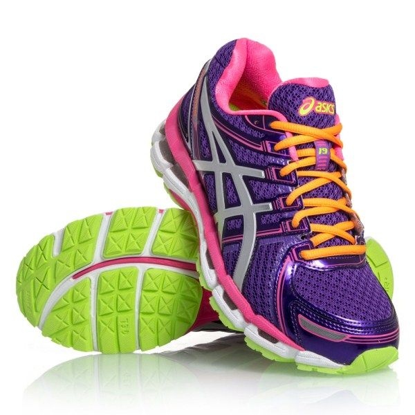 Asics Gel Kayano 19 Womens Running Shoes Electric Purple White Neon Pink Hiking Shoes Women Best Running Shoes Running Shoes