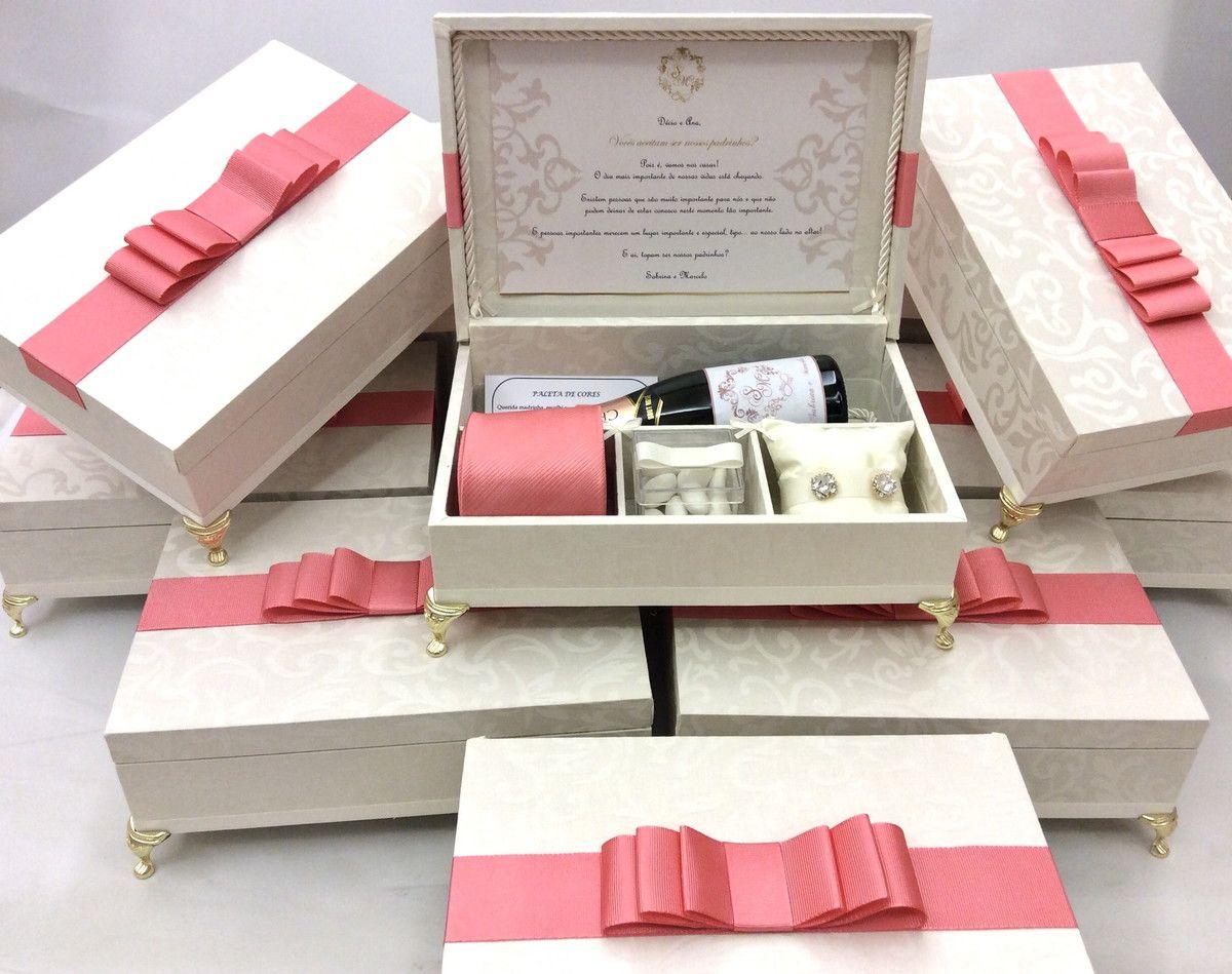 Caixa Convite Padrinhos de Casamento | Caixa acrilico ...