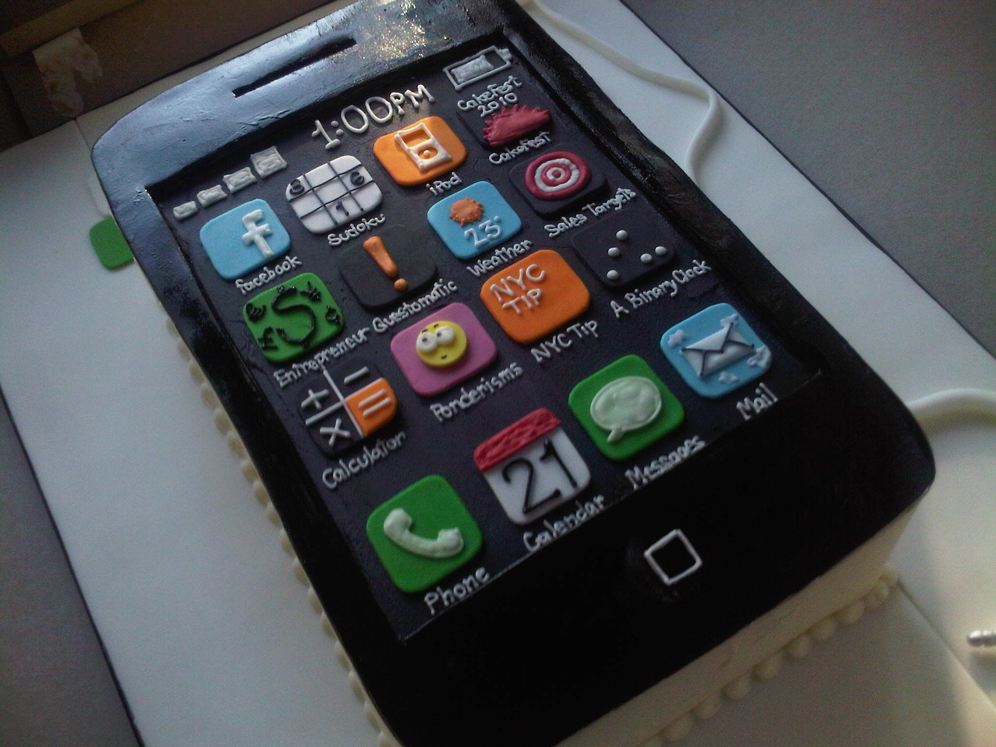 iPhone cake food drink Pinterest Iphone cake Cake and Foods