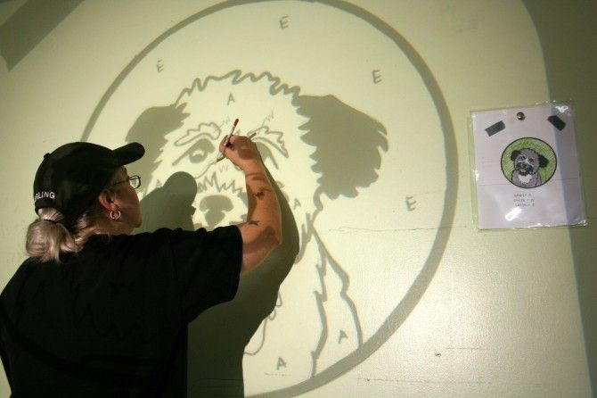 Painting A Mural Using Projector