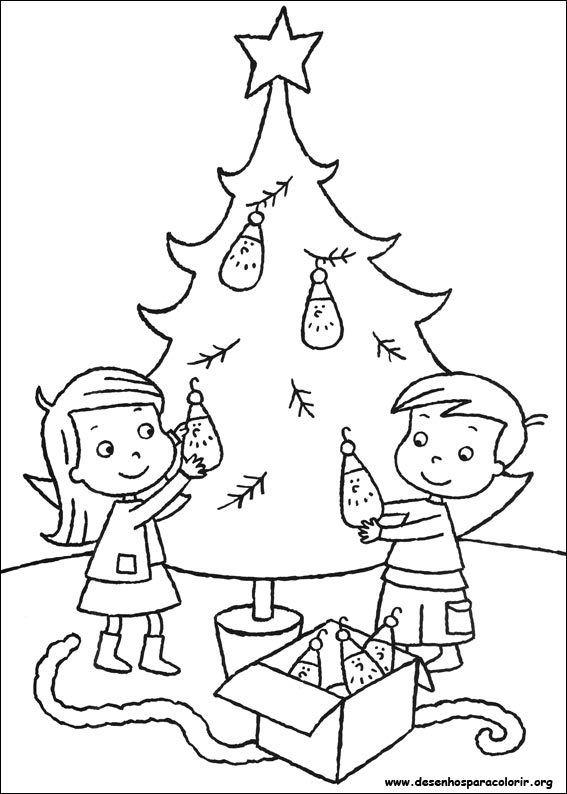 Arvores De Natal Para Imprimir E Pintar Com Imagens Paginas