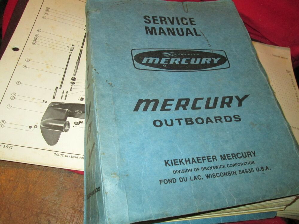 Ebay Sponsored Kiekhaefer Mercury 1971 Engine Marine Boat Service Repair Manual Shop Outboard Boat Service Repair Manuals Marine Boat
