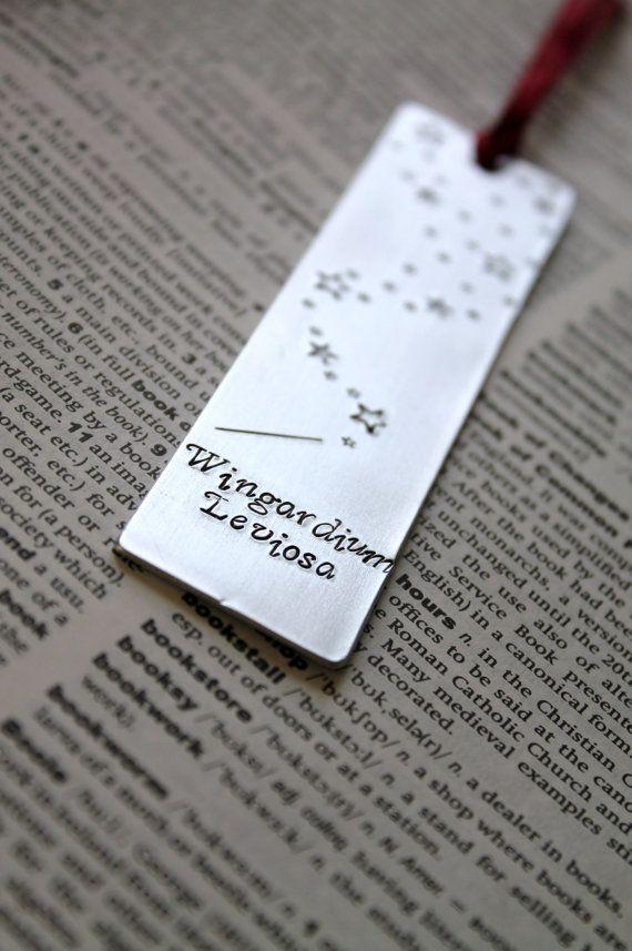 Harry Potter Wingardium Leviosa - Metal Stamped Personalised Bookmark on Etsy, £8.00