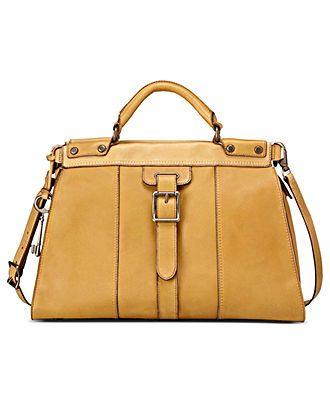 2dc6caed245c2f Fossil Handbag, Vintage Revival Leather Satchel - Fossil - Handbags &  Accessories - Macy's
