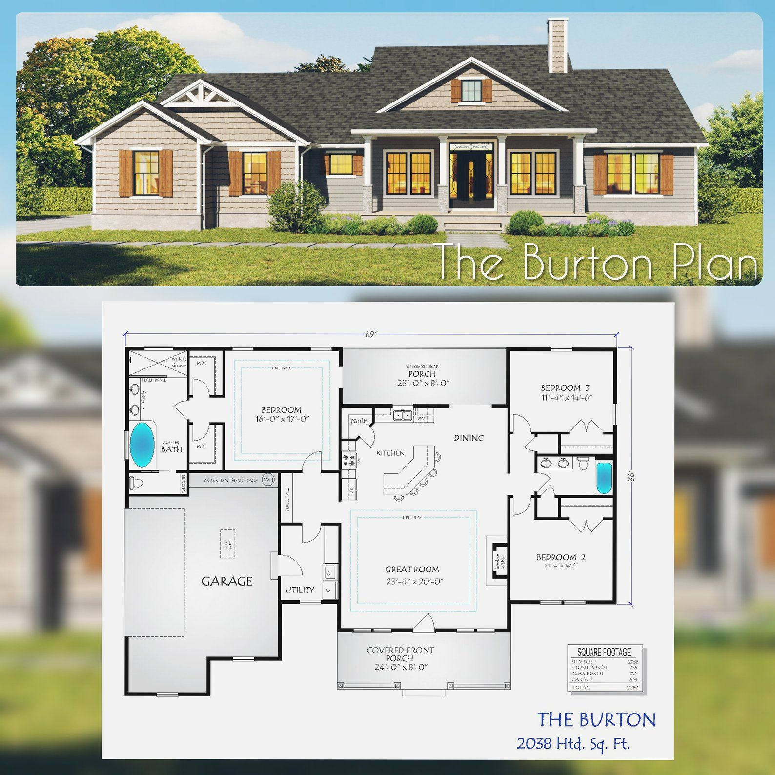Craftsman House Plan The Burton Dream House Plans New House Plans Bedroom House Plans