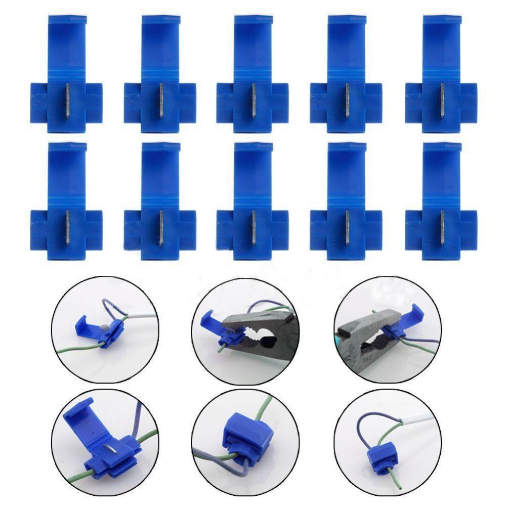 100pcs New Bule Scotch Lock Fast Quick Splice Wire Connector Terminal Crimp