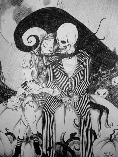jack skellington pictures   Jack Skellington And Sally Drawings ...