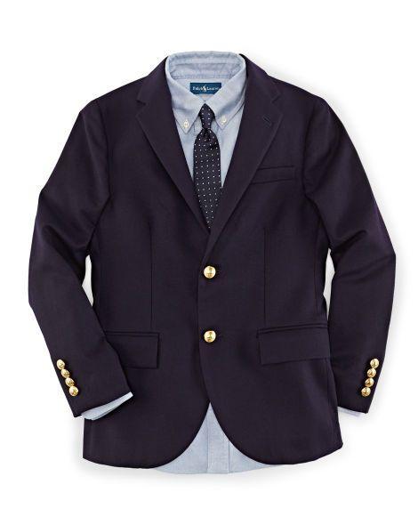 Wool Brass-Button Sport Coat - Boys 8-20 Suits & Sport Coats - RalphLauren.com