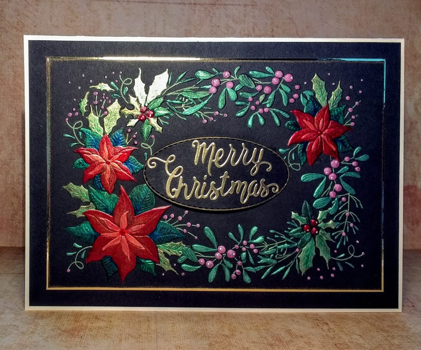 "Crafter/'s Companion 3D Embossing Folder 5/""X7/""-Pretty Poinsettia"